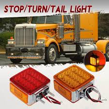 100 Mack Truck Accessories Partsam 2x Trailer Square Double Face Pedestal Stop Turn Tail