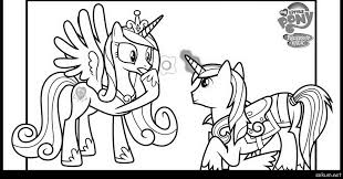 My Little Pony Coloring Pages Princess Cadence And Shining Armor Team Colors