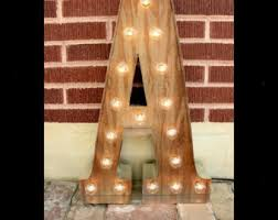 light bulb letters etsy