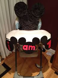 Mickey Mouse High Chair Banner For The Twin's 1st Birthday ...