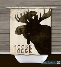Deer Shower Curtain Rustic Lodge Wilderness Americana Lodge