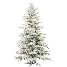 Fraser Christmas Tree Care by Fraser Hill Farm Pre Lit 7 5 U0027 Mountain Pine Flocked Artificial