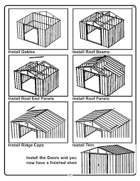 Arrow 10x12 Shed Assembly by Amazon Com Arrow Shed Ar1012 Arlington 10 Feet By 12 Feet Steel