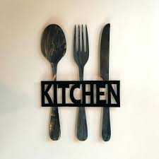 Wood Fork And Spoon Wall Hanging by Articles With Black Wooden Spoon And Fork Wall Decor Tag Terrific