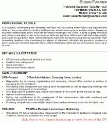Office Administrator Cv Example In Examples