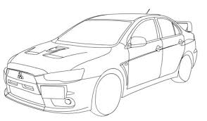 Click To See Printable Version Of Mitsubishi Lancer Evolution X Coloring Page