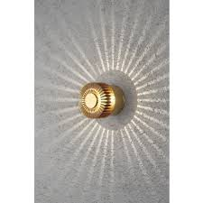 konstsmide monza single light circular led outdoor wall fitting