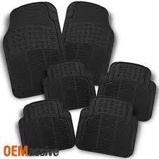 100 Heavy Duty Truck Floor Mats All Weather Rubber Semi Pattern Beige Car Rear 2