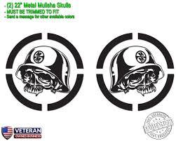 2) Metal Mulisha Skull Vinyl Decals 22