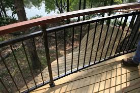 Horizontal Deck Railing Ideas by Design For Metal Deck Railings Ideas 26054