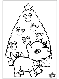 Christmas Coloring Pages Dog