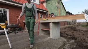 wir bauen eine outdoor küche