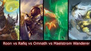 Mtg Thraximundar Edh Deck by Roon Vs Rafiq Vs Omnath Vs Maelstrom Wanderer Edh Cmdr Game Play