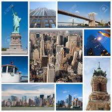 New York City Landmarks And Tourist Destinations Collage Stock Photo