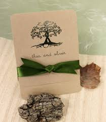 Rustic Entwined Tree On Kraft Card
