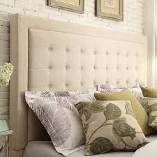 Wayfair Tufted Headboard King by Bedroom Awesome Wicker Headboards King Size King Headboard Cloth