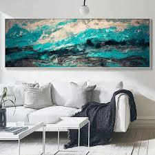 großhandel moderne abstrakte ölgemälde auf leinwand große wandkunst leinwand drucken lange banner leinwand wand poster für wohnzimmer schlafzimmer