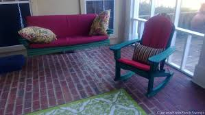 100 Burgundy Rocking Chair Heres A Matching Green Porch Swing And Adirondack Rocking Chair