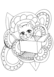 Cute Cat Coloring Page Design Book