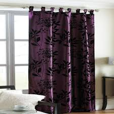 Dark Purple Curtains at Night