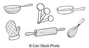 Utensils Clipart Black And White