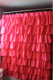 Pink And Purple Ruffle Curtains by Pink Shower Curtain Curtains Ideas