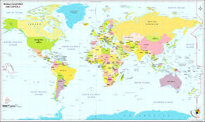 Map World Equator Line Countries Creatop