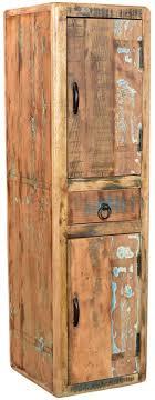 woodkings bad hochschrank kalkutta recyceltes holz bunt rustikal badhochschrank massiv badmöbel massivholz badezimmer badezimmerhochschrank