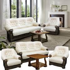 hamlet leder couchgarnitur im englischen stil cremeweiß