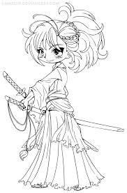 Cute Chibi Coloring Pages 11 Princess Emeraude By YamPuff On DeviantART