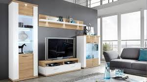 wohnkombination manhattan wohnwand mit tv möbel eiche