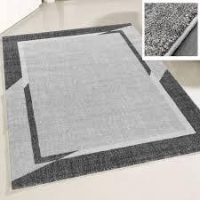 wohnzimmer teppich modern grau designer bordüre konturenschnitt m7430g