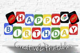 Uno Decks by Printable Uno Card Cards Happy 1st Birthday By Creative2printables