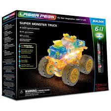 Laser Pegs® 6 In 1 Super Monster Truck Set : Creative Kidstuff