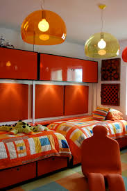 9 And 12 Year Old Boys Bedrooms With Colorful Striped Twin Bed Storage Also Pendant Lamps