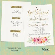 Rustic Boho Bridal Shower Invitation Customized for You 5x7 Diy
