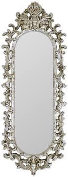 casa padrino barock spiegel silber 40 x h 130 cm prunkvoller wandspiegel im barockstil antik stil garderoben spiegel wohnzimmer spiegel