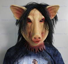 Crossdressed For Halloween by Aliexpress Com Buy Halloween Saw Pig Mask Scary Halloween Props