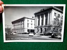 Vintage RPPC Federal Building & Post fice Missoula Montana