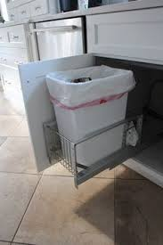 Under Cabinet Trash Can Pull Out by Diy Pull Out Trash Can In A Kitchen Cabinet Amazing Idea House