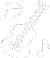 Guitar Printable Coloring Page For Kids