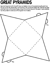 Great Pyramids Coloring Page