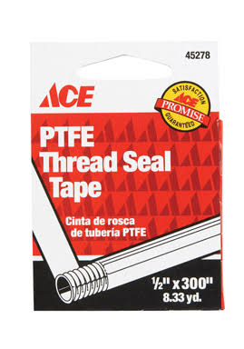 "Ace Thread Seal Tape, 1/2"" x 300"""