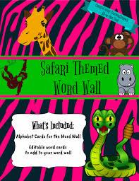 Safari Themed Word Wall