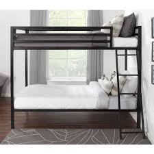 mainstays premium twin over twin metal bunk bed multiple colors