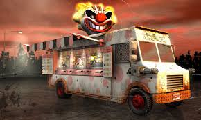 Twisted Metal Character Sweet Tooth.   Gamer Board   Pinterest ... Twisted Metal Rc Playstation Sweet Tooth Palhao Pinterest Sony Playstations Ice Cream Truck Robocraft Garage Rember This Ice Cream Truck From Twisted Metal Back On Hollywood Losangeles Trucks Home Facebook The Review Adamthemoviegod E3 2011 Media Event Tooths A Photo Car Flickr Pday 2 Mod Sweeth Van Junkyard Find 1974 Am General Fj8a Truth