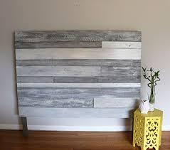Pallet headboard white grey pallet headboard wood by RustasticWood