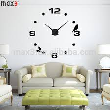 Giant Wall Sticker Clock 3D Factory Home Decoration Mirror