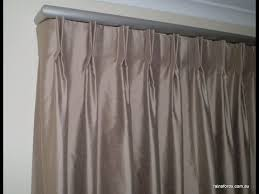 pinch pleat curtains patio door curtains pinch pleat youtube