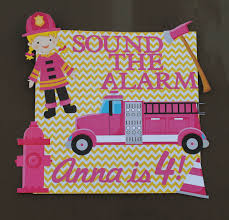 100 Pink Fire Truck Toy Girl Fighter Birthday Party Girly